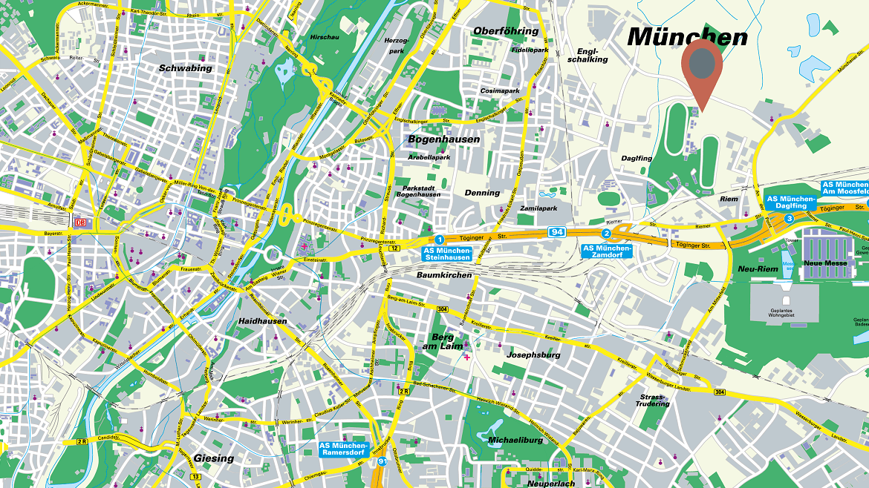 Geschätzter Unternehmenssitz an der Grenze zu München